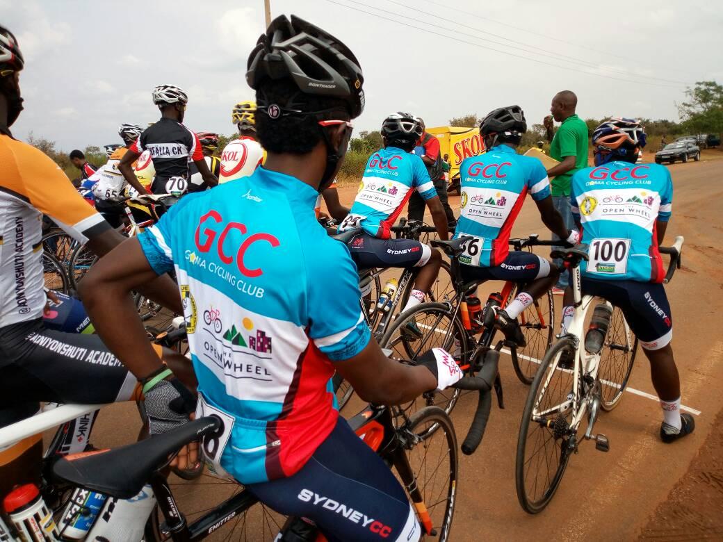 Les cyclistes Congolais à la Course du Rwanda Cyclistes de la RDC
