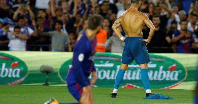 Célébration du but de Cristinao Ronaldo, Camp Nou 08/2017