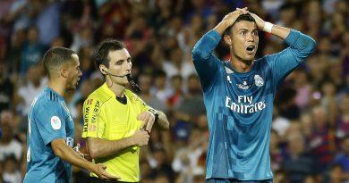 Le regres de Cristiano Ronaldo pour le carton rouge au Clásico, août 2017