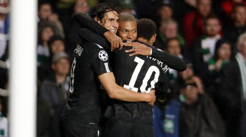 Neymar Mbappé Cavani du Paris Saint-Germain en Ligue des Champions