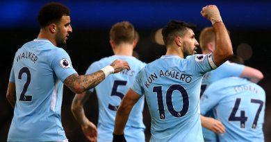 Kun Agüero comemore son but aux couleurs de Manchester City