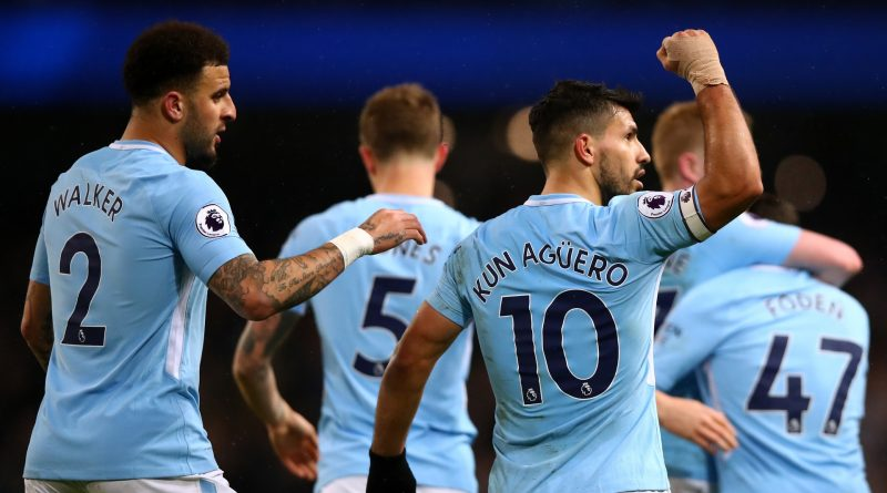 Kun Agüero comemore son but aux couleurs de Manchester City
