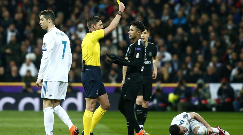 Neymar lors du match entre Real Madrid vs le PSG