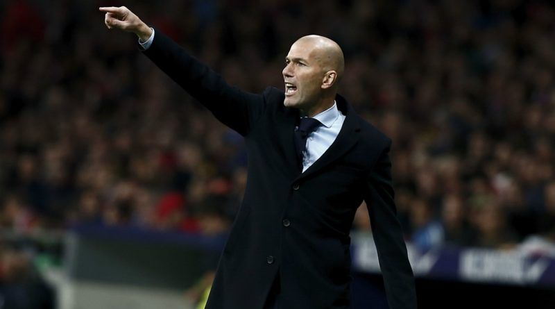 Zinedine Zidane entraineur du Real Madrid