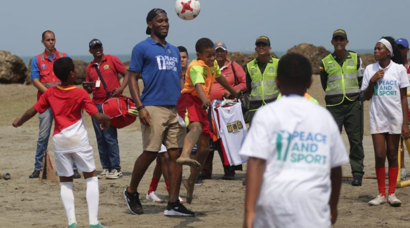 Didier Drogba en visite en Colombie