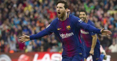 Comemoration de Lionel Messi pour ses 600 buts dans sa carrière